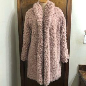 Wild Fable Pink Shaggy Teddy Bear Coat Size XL